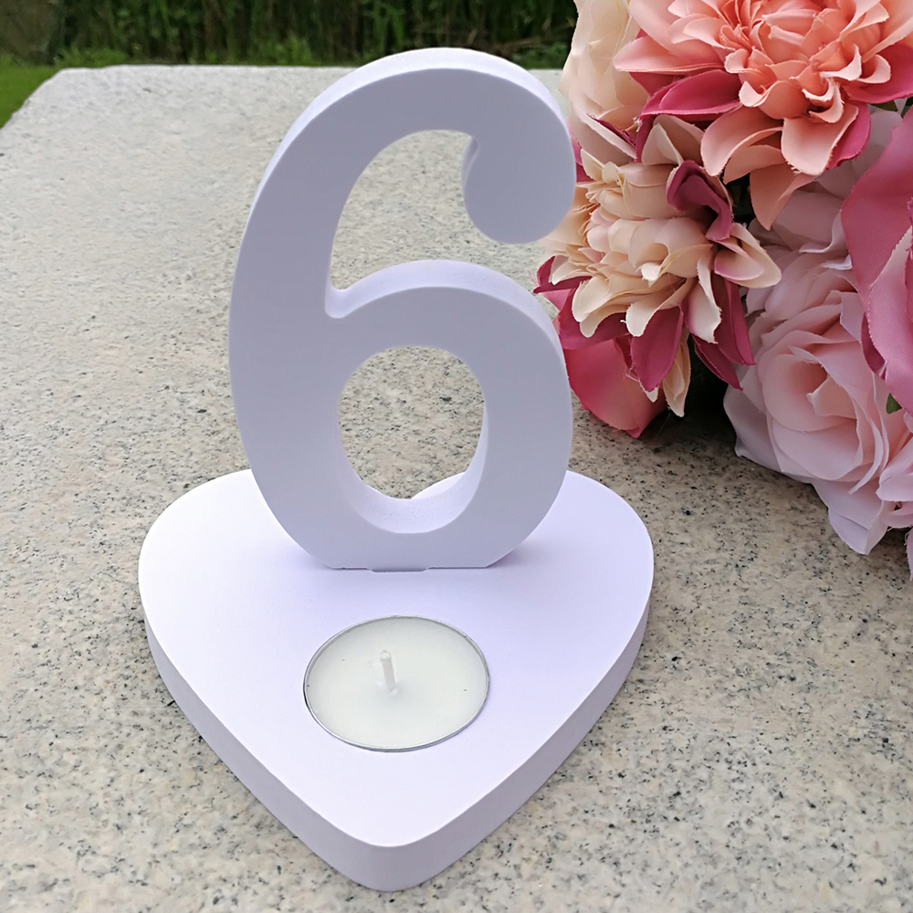 White Wedding Table Numbers Wooden 1-10 Numbers Table Stand Number Mariage Wedding Decoration Table Centerpieces Party Signs