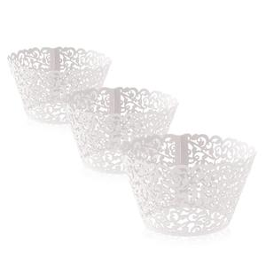 Image 2 - 50pcs Laser Cut Cupcake Wrappers Decor Wedding Birthday Party Baby Shower Wrap