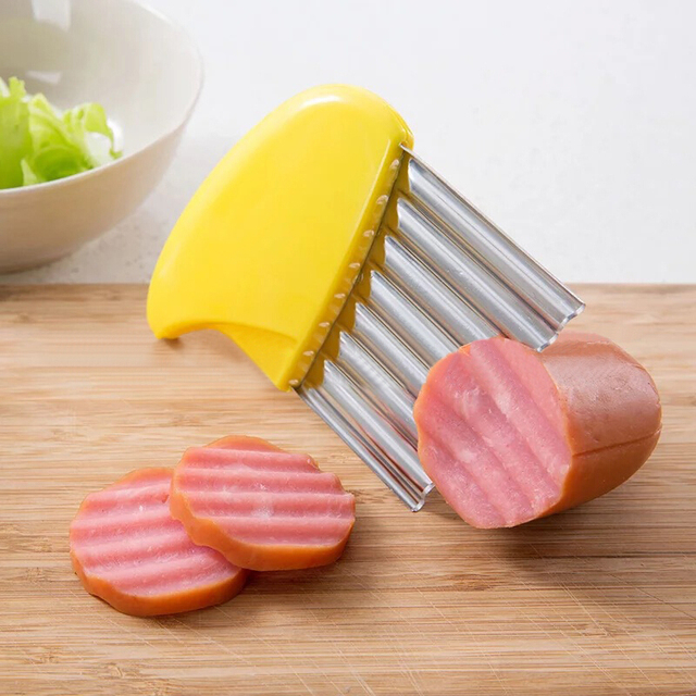 Wave onion potato slices wrinkled french fries salad corrugated cutting chopped potato slicer kitchen gadgets and accessories 3