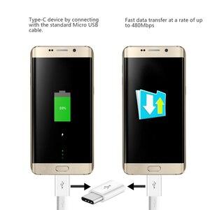 Image 2 - 3 יח\חבילה USB מתאם USB סוג C למייקרו USB OTG כבל סוג C ממיר מחבר עבור Macbook סמסונג s9 S8 Huawei P20 P10