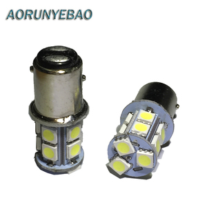 AORUNYEBAO 10PCS 1157 BAY15D P21/5W 13 SMD 5050 LED Car Brake Lights Tail Lamps Turn Signal 5050SMD Auto Rear Reverse Bulbs 12V