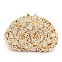 Fashion Hochzeit Tasche Frauen Kupplungen Geldbörsen Damen Gold Handtaschen Braut Taschen Gold abendtaschen (88303-C)