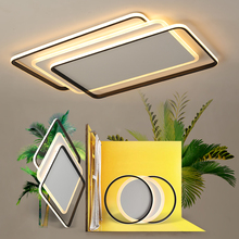 hot deal buy living room bedroom study modern led ceiling light acrylic square aluminum remote control dimming ceiling light free shipping