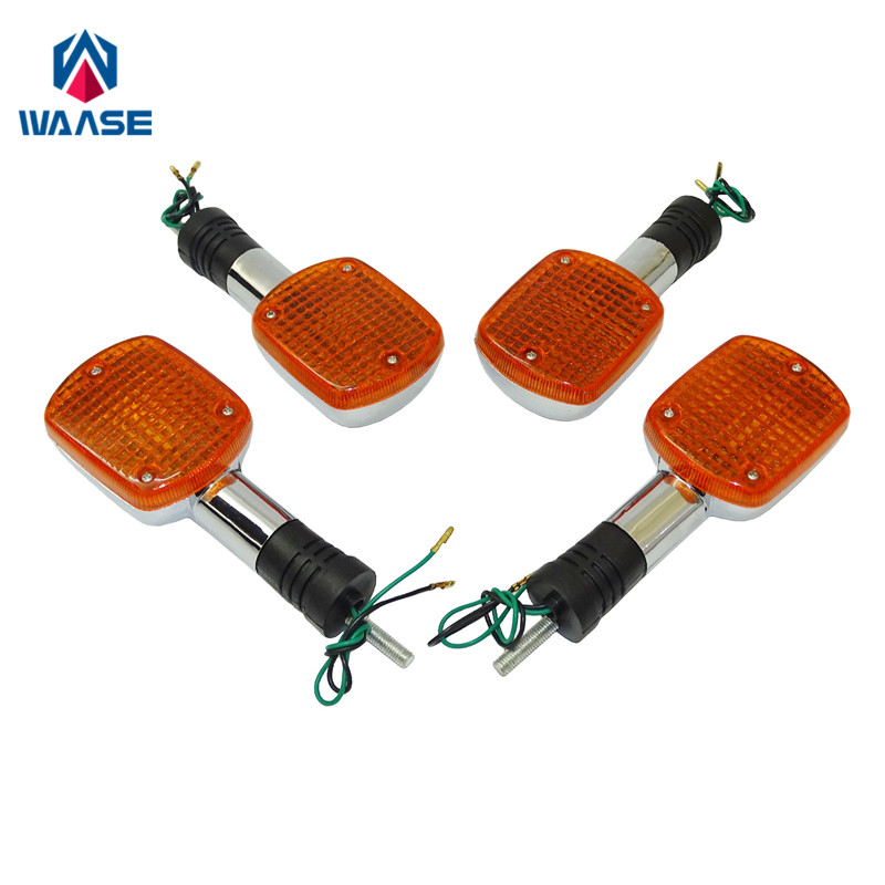 waase 4pcs Turn Signals Blinker Indicator Bulb Light Lamp Amber For HONDA Shadow Ace Aero Sabre Spirit VLX VT 400 600 1100