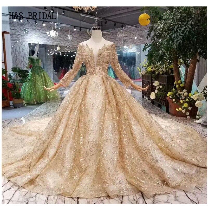 bride wedding gown gold