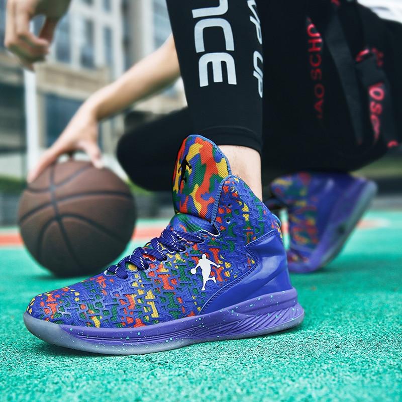 2019 New Men Basketball Shoes Cushioning Sports Shoes High Tops Mens Basketball Sneakers Athletics Basket Jordan White Shoes