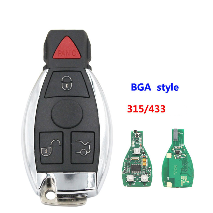 5pcs lot smart key 4 button NEC and BGA and BE remote key with 315mhz 434MHZ