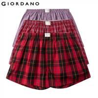 Giordano Men Boxer 3 pack Multi Color Boxers Men 100% Cotton Male Underwear Comfortable Boxershorts Men Calzoncillo Hombre