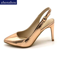Pumps 2018 Latest Products Spring New Sexy Women S Shoes Tointed Toe Sling Backs Nightclub Fashion