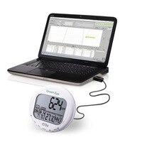 Внутренний монитор качества воздуха Цифровой настольный углекислый регистратор CO2 Монитор CO2 метр анализатор 0 9999ppm AZ 7798