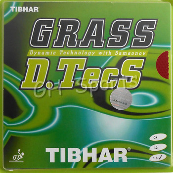 Tibhar GRASS D.TecS Long Pips-Out Table Tennis (PingPong) Rubber With Sponge