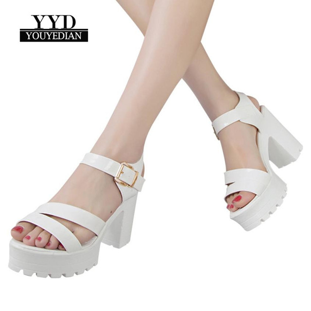 YOUYEDIAN shoes woman Fish Mouth Platform High Heels Wedges Sandals Buckle  Strap Sandals zapatos mujer big size women shoe  4 0f5e0283bba2