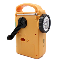 Portable Power Bank Emergency LED Lamp Electronics AM Automotive Home FM Hand Crank Solar Dynamo Camping Radios Outdoor