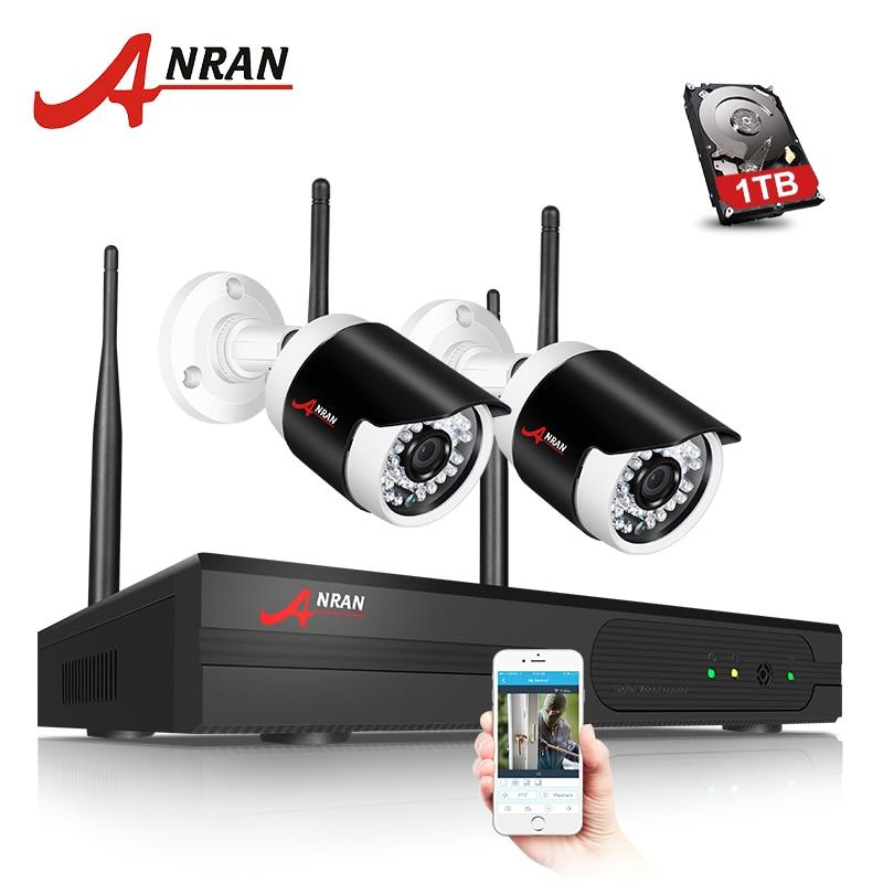 ANRAN P2P Security CCTV Camera System 1080P WIFI Camera Kit Waterproof Security IR Outdoor P2P Wifi IP Surveillance Camera Kit горячая wifi беспроводной сети p2p cctv ir видео ip камеры безопасности для android черно белый