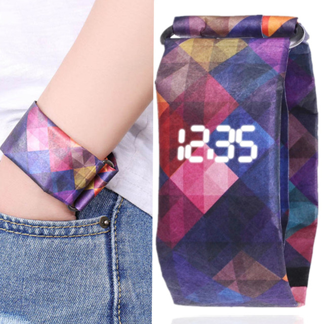 2020 Trendy DIGITAL LED Watch Paper Water/Tear Resistant Watch Perfect Gift 13 1