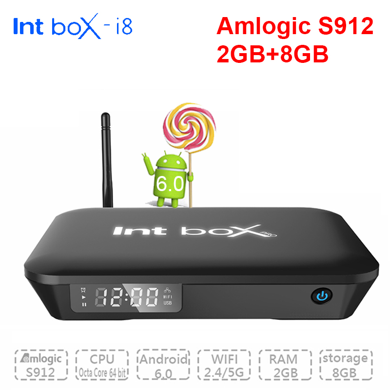 Int Caja I8 Android TV Box 2 GB/16 GB Amlogic S912 Octa Core Android 6.0 Unidade