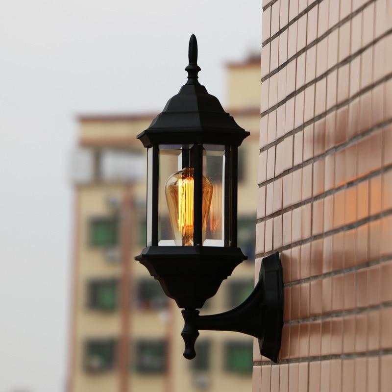 цена на Villa continental American style outdoor Wall Lamps all aluminum waterproof and rust proof balcony LU627 ZL457