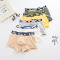 2017 New Arrival High quality boy underwear briefs Baby tight shorts Kids Boy Panties 95% cotton solid Children 5pcs/lot Panties