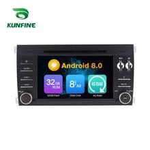 Octa Core 4 GB di RAM Android 8.0 Navigazione Dell'automobile DVD GPS Multimedia Player Car Stereo per PORSCHE Ristorante Cayenne 2003- 2010 Radio Headunit