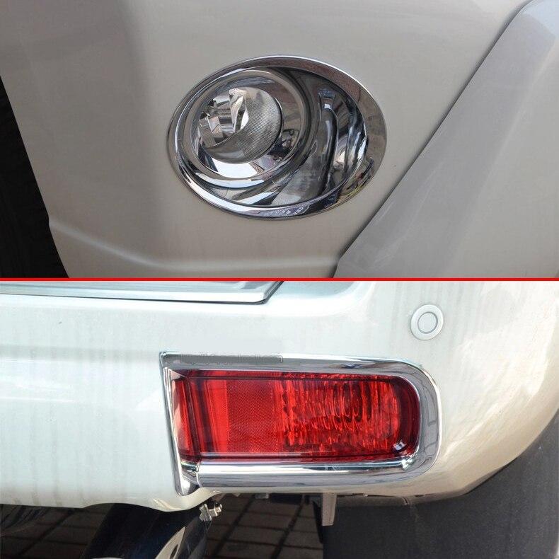Accessoires chromés Pour Toyota Prado J150 FJ150 Avant + Arrière Lampe Antibrouillard Garniture Pièces Extérieures 2014 2015 2016 2017