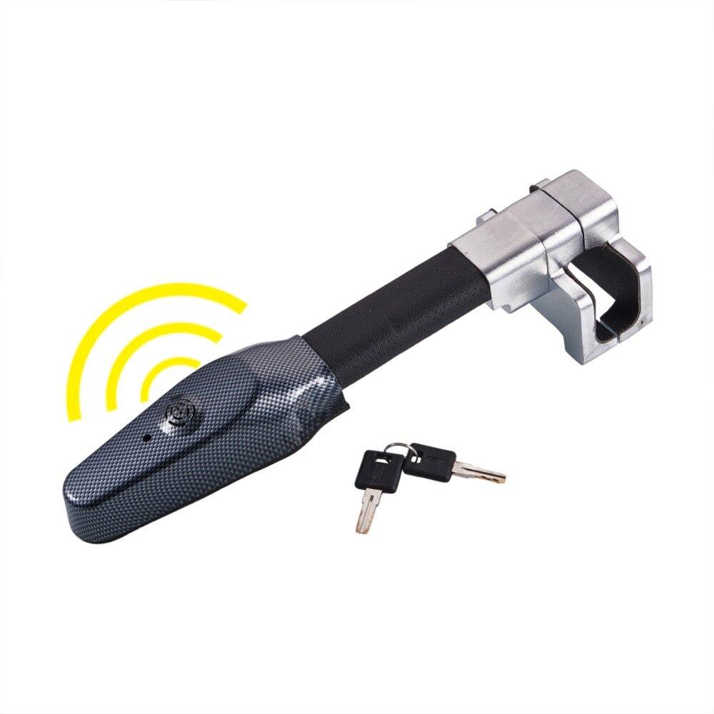 Micro Vibration Anti Theft Car Steering Wheel Lock Safety Alarm Car Locks Retractable Auto Security Steering Wheel Lock