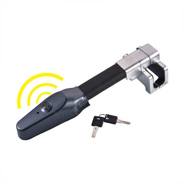 Mikro titreşim kontrol Buzzer Alarm sesi araba Van direksiyon kilidi güvenlik kelepçesi Anti hırsızlık güvenlik ağır hizmet tipi