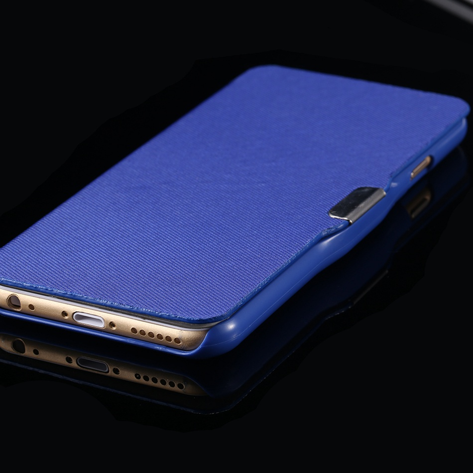 KISSCASE Ultra Thin Candy Color Magnetic Flip Phone Case For iPhone Models 3