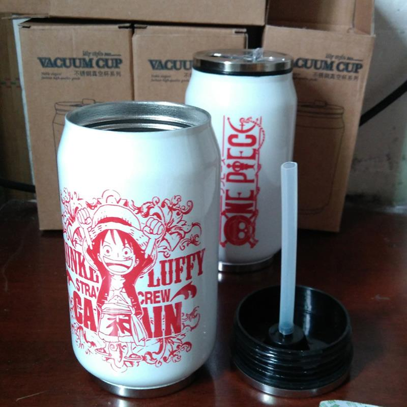 Animation insulation Cup stainless steel One Piece cans of cola Belly Cup creative Outdoor Travel Cup tumbler thermo mug termo