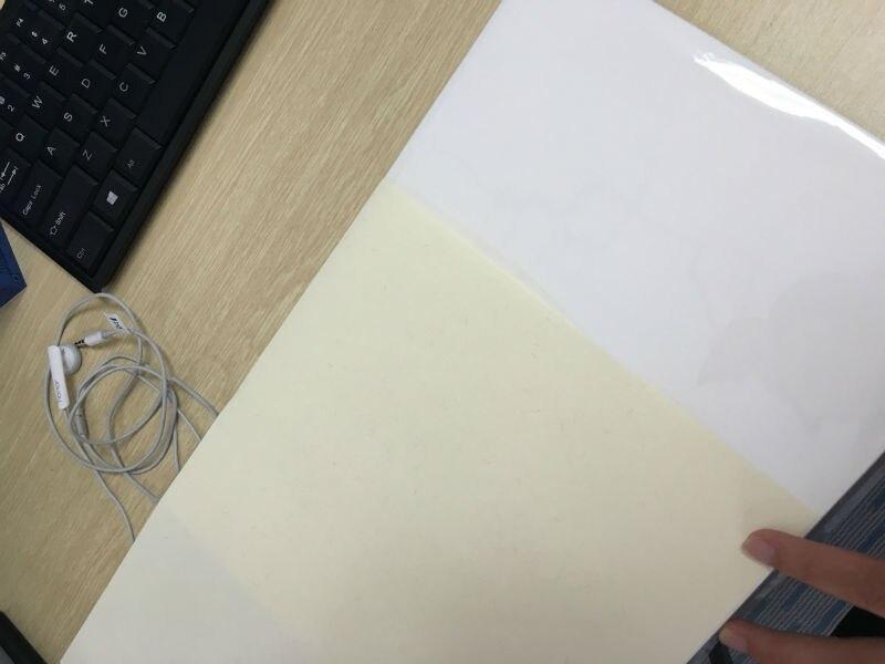 A4 Size (210*297mm)  85g 75% Cotton 25% Linen Paper Light Yellow Color