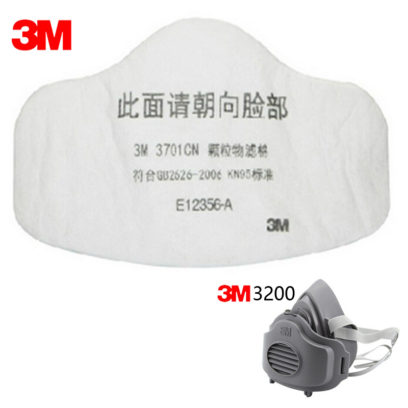 10pcs 3M 3701CN Filter cotton 3M 3200 Gas Mask Supporting  Dust Filter KN95 Pro Anti Industrial Construction Dust Pollen Haze 3m 1211 half face gas mask dust anti industrial conatruction dust pollen haze poison family professional