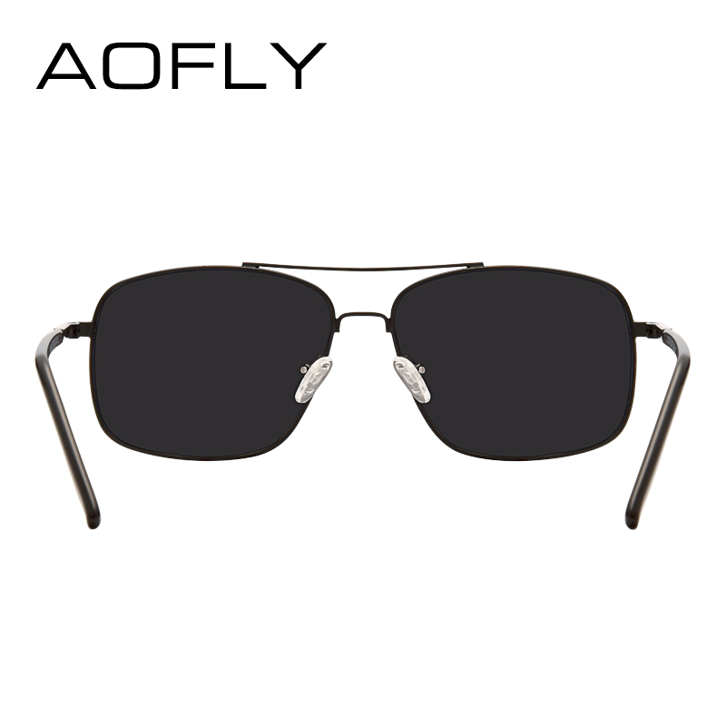 95ed05df1d33 AOFLY Men s Polarized Sunglasses Fashion Brand Designer HD Polaroid Sun  glasses for Men Coating Lens Double Bridge Goggle AF6107-in Sunglasses from  Apparel ...