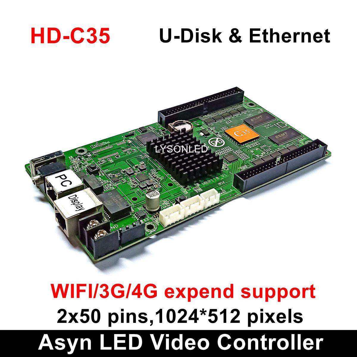 Huidu HD C35 HD C35C Asynchronous RGB LED Video Display Card Large Full Color LED Display