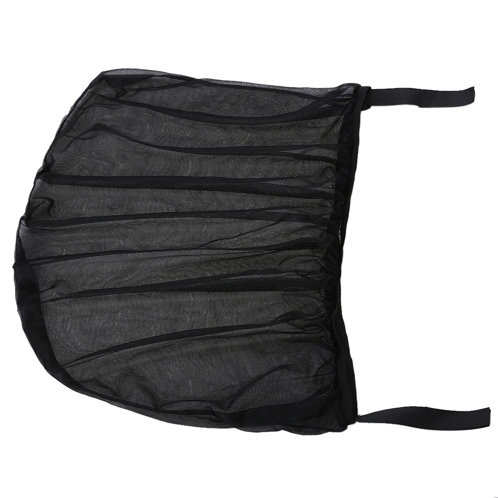 2Pcs Car Sun Visor Rear Side Window Sun Shade Mesh Fabric Sun Visor Shade Cover Shield UV Protector Black Auto Sunshade Curtain 4