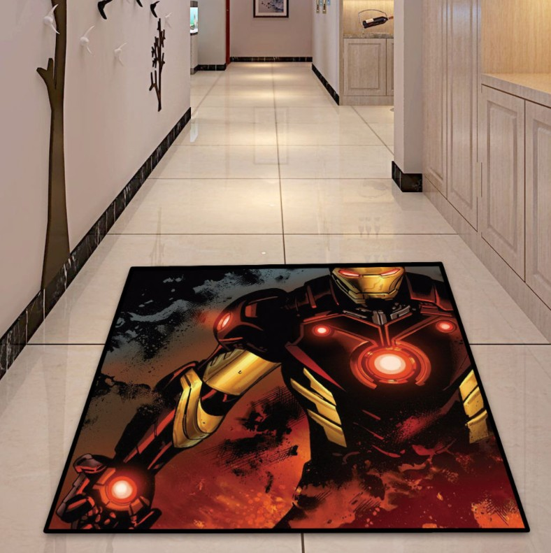 NEW Round Carpet Batman Superman Printed Soft Carpets Anti-slip Rugs Superhero Computer Chair Mat Floor Mat for Home Kids Room