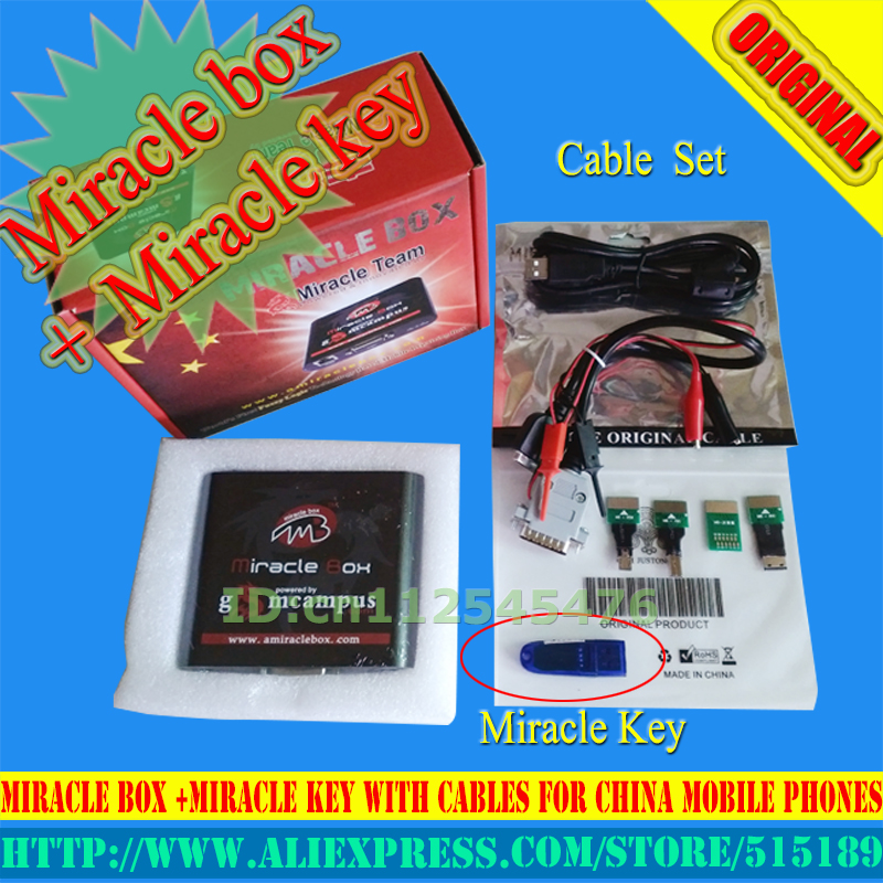 gsmjustoncct Original Miracle box +Miracle key with cables (V2 33 hot  update) for china mobile phones Unlock+Repairing Free ship