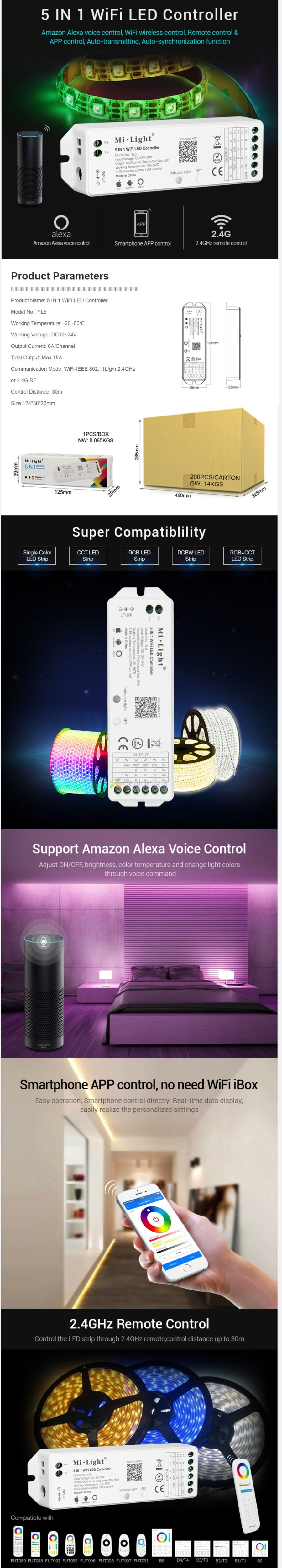YL5 5 IN 1 WiFi LED Controller  1