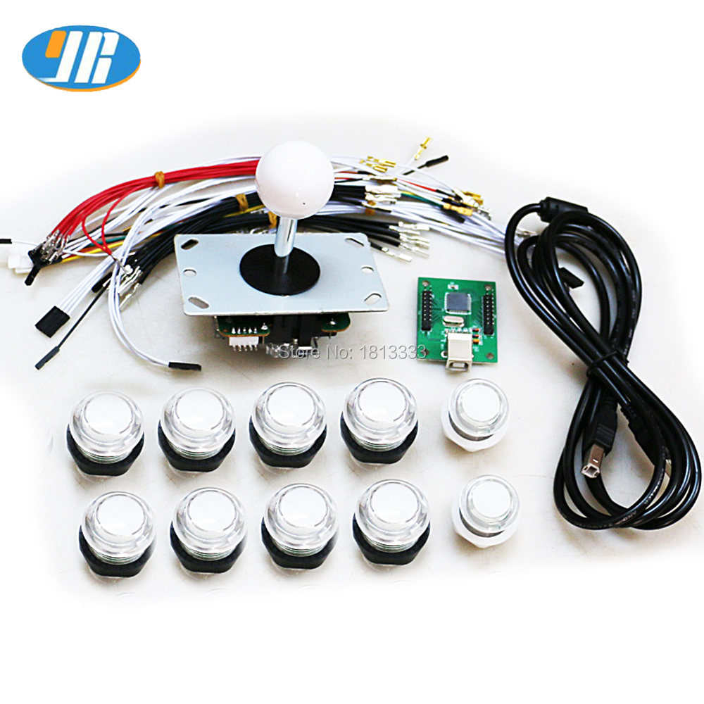 Original Japan Sanwa Joystick Jlf Tp 8yt Fighting Rocker With Wiring Diagram One Player Arcade Kit Diy Parts For 5v Illuminated Led Push Button Pc