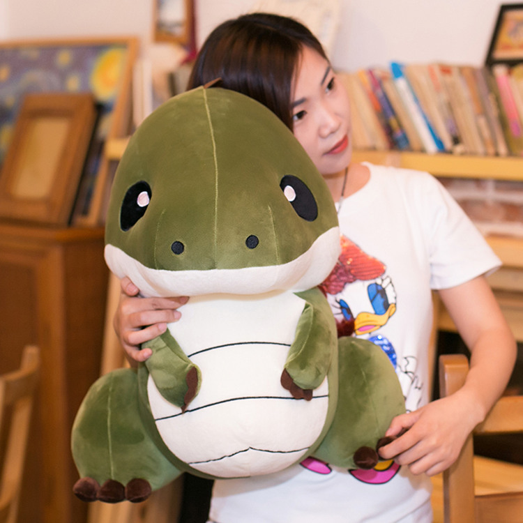 big plush cartoon dinosaur toy big creative green dinosaur doll gift about 55cm the huge lovely hippo toy plush doll cartoon hippo doll gift toy about 160cm pink