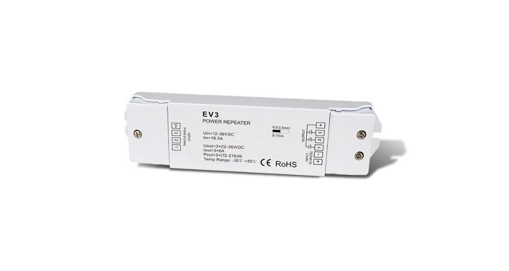 Rgb-controller Warnen Dc 5 V-36 V 3ch Constant Voltage Power Repeater Ev3 Verstärker Led Pwm Power Repeater Für Led 3ch Streifen Beleuchtung Lampe Lampen In Den Spezifikationen VervollstäNdigen