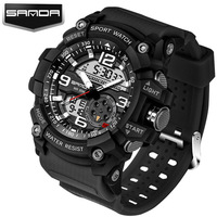SANDA Sport Military Watch Men Top Brand Luxury Famous Electronic LED Digital Wrist Watches For Men