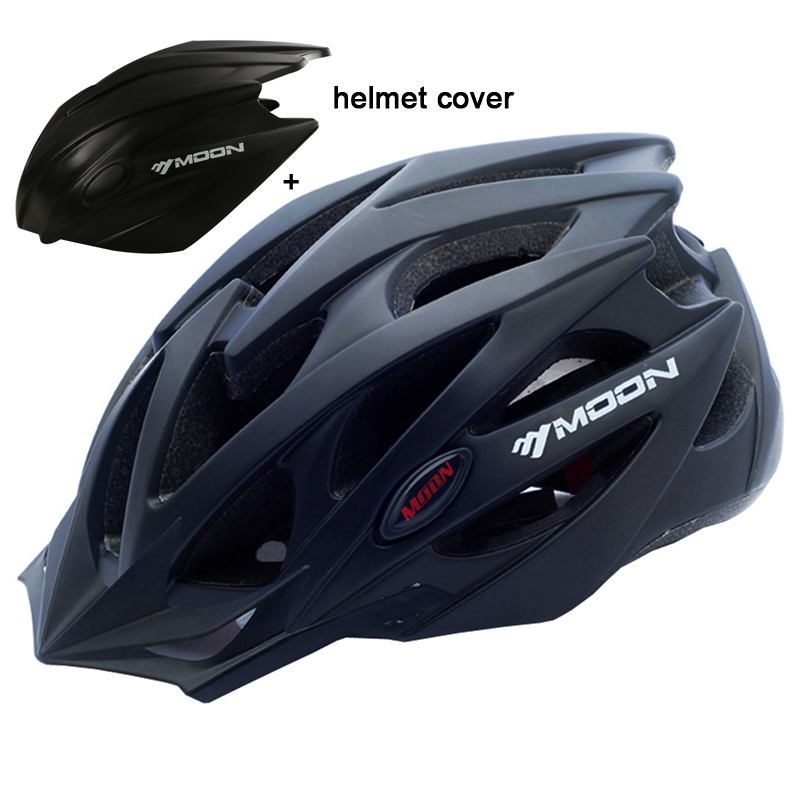 MOON Bicycle Helmet Integrally-molded Cycling Helmet Ultralight Outdoor Sports MTB Road Mountain Bike Helmet With Helmet Cover moon mv 88 gj outdoor cycling bike helmet black red size xl