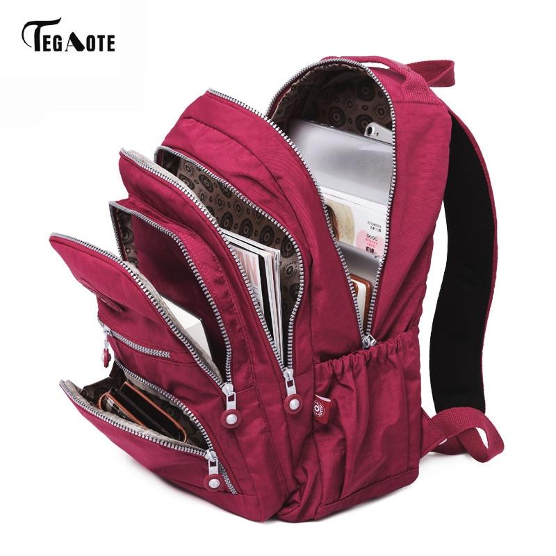TEGAOTE School-Backpack Nylon Teenage-Girl Waterproof Female Women for Mochila Feminina