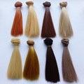 Atacado 20 pçs/lote multi-cor diy sd bjd boneca perucas de cabelo sintético em linha reta para bonecas