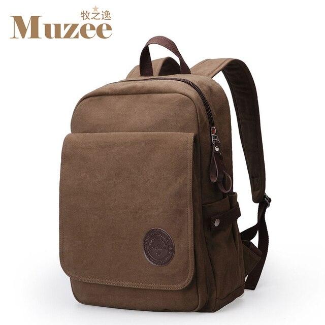 Muzee mochila mochilas estilo dos homens livres do transporte, moda casual mochila canvas escola bags para o sexo masculino, bolsa de viagem