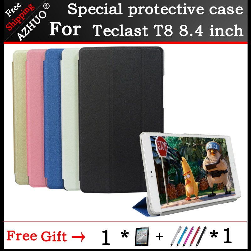 Original Fashion Ultra-thin Three Folding PU Leather Case Stand Cover For Teclast T8 8.4