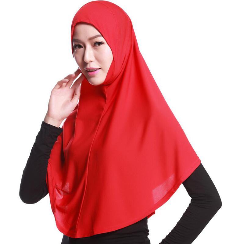 Muslim cotton 80cm long hijab solid color national cap multicolor Arab ladies headscarf free shipping