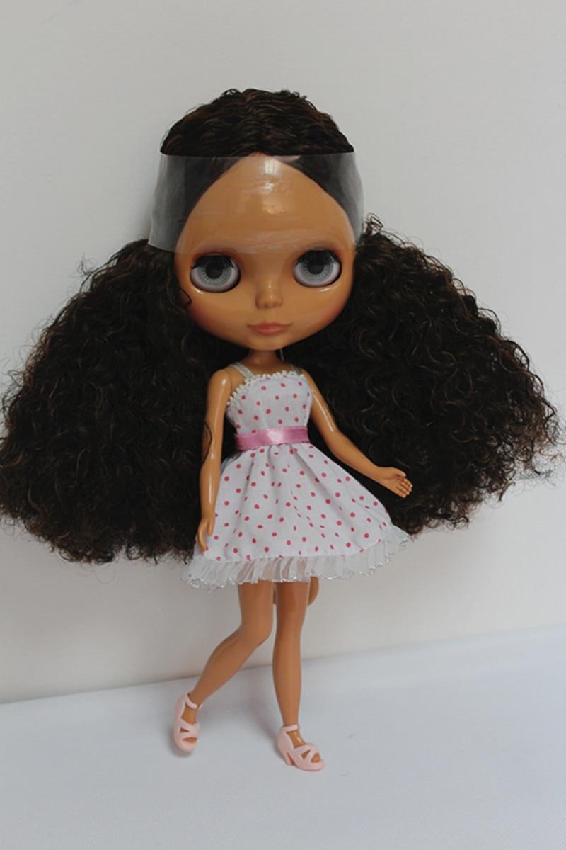 blygirl marrom preto cachos blyth boneca pele preta nude boneca conjunta corpo geral 7 pode mudar