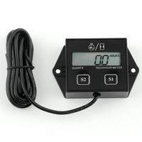 New Hot Selling 1pc Digital Engine Tach Hour Meter Tachometer Gauge Inductive For Motorcycle Motor Stroke