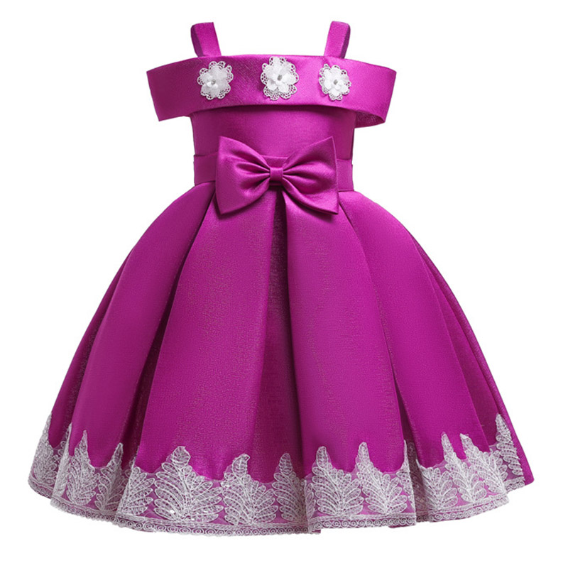 2019 Lace   flower     girl     dresses   for party first communion princess   dress   kids costume ball gown prom vestidos ladies costume