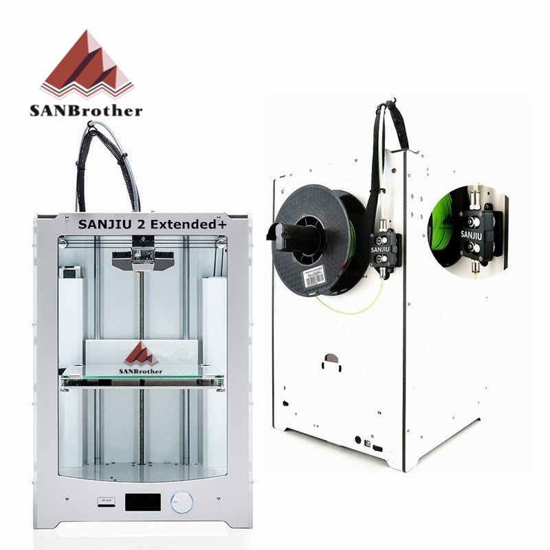 SANBrother 2 Extended+ 3D Printer 2018 Newest DIY KIT Compatible With Ultimaker 2 Extended+ Include all Parts Top Quality meke meike mk s af4 auto focus mount lens adapter ring for sony micro single camera to canon ef ef s camera